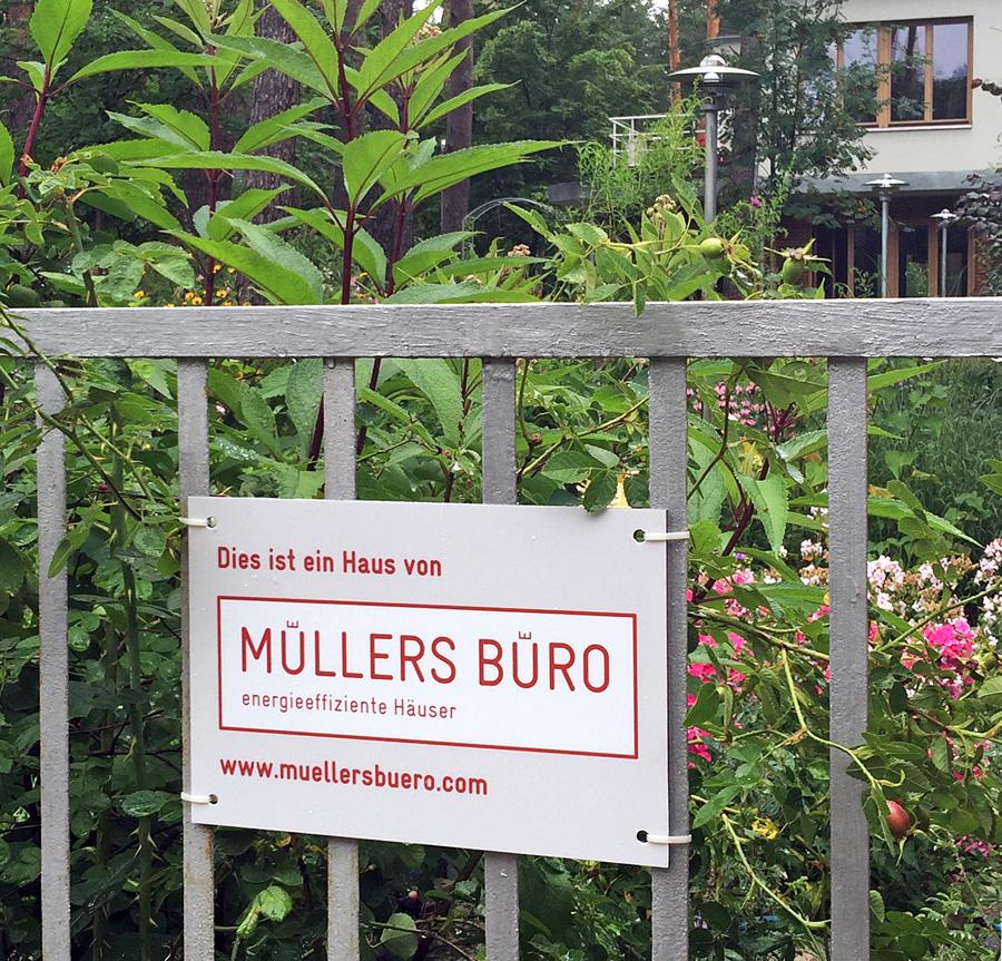 Muellers Buero Hausplakette